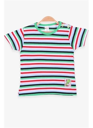 Breeze Erkek Çocuk Tişört Patlı Çizgili Karışık Renk  Renkli
